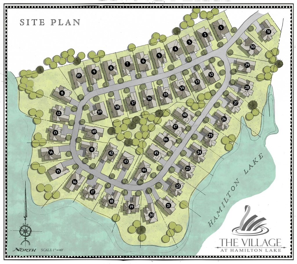 Site Map for The Village at Hamilton Lake